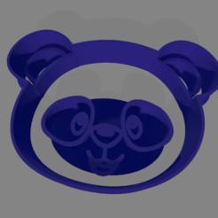 oso cara.png Télécharger fichier STL gratuit Tête d'ours coupe-biscuits • Objet pour imprimante 3D, ledblue