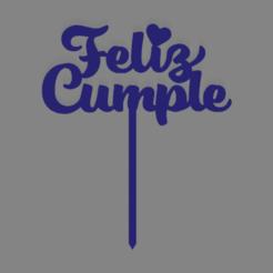 Descargar modelo 3D Feliz cumpleaños happy birthday cake topper, ledblue