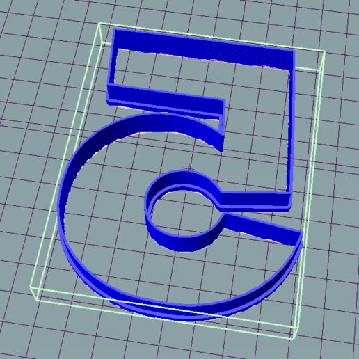 Télécharger fichier STL gratuit Cinq cinq 5 Coupe-cuisine • Design pour impression 3D, ledblue