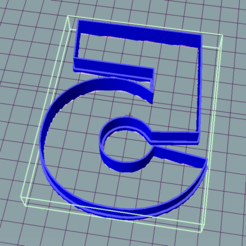 Download free 3D printing files Five five 5 Cookie cutter, ledblue