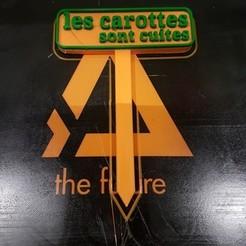 """diseños 3d PANNEAUX POTAGER JEUX DE MOTS """"CAROTTES"""", lartiste3D"""