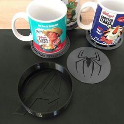 Download 3D printer files Super hero coasters with storage, lartiste3D