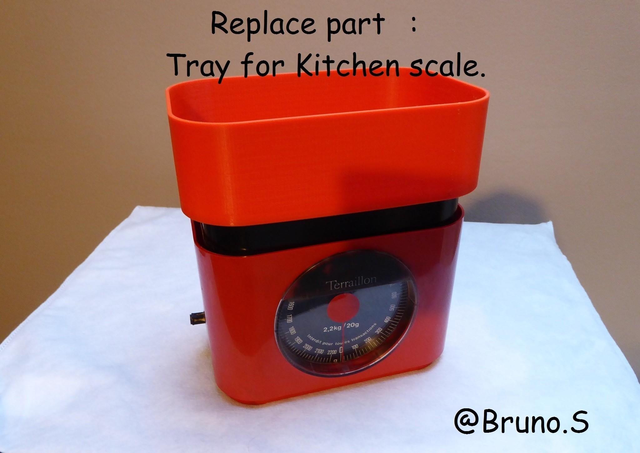 terraillon.JPG Download free STL file Spare pan for Kitchen Scale Terraillon • 3D printable model, brunoschaefer41