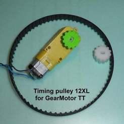 P1010122.JPG Télécharger fichier STL gratuit Timing pulley 12XL for GearMotor TT • Plan pour imprimante 3D, brunoschaefer41