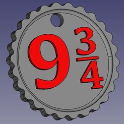"""934.PNG Télécharger fichier STL gratuit Harry Potter Keychain """"Platform 9 3/4"""" • Plan pour impression 3D, brunoschaefer41"""