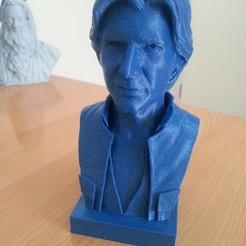Imprimir en 3D gratis Busto de Han Solo, julienboucaron