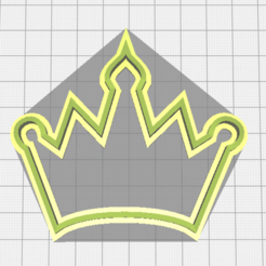 Imprimir en 3D Crown cookie cutter, torresfederico