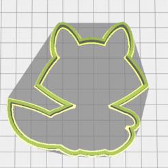 Descargar modelo 3D Mapache cookie cutter, torresfederico