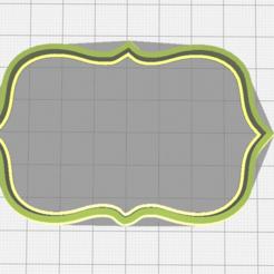 Descargar archivos 3D Curly frame cookie cutter (variant), torresfederico