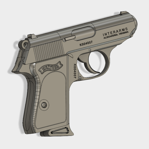 Walther PPK (6).PNG Download free STL file Walther PPK Cal.9mm • Object to 3D print, 3dprintcreation