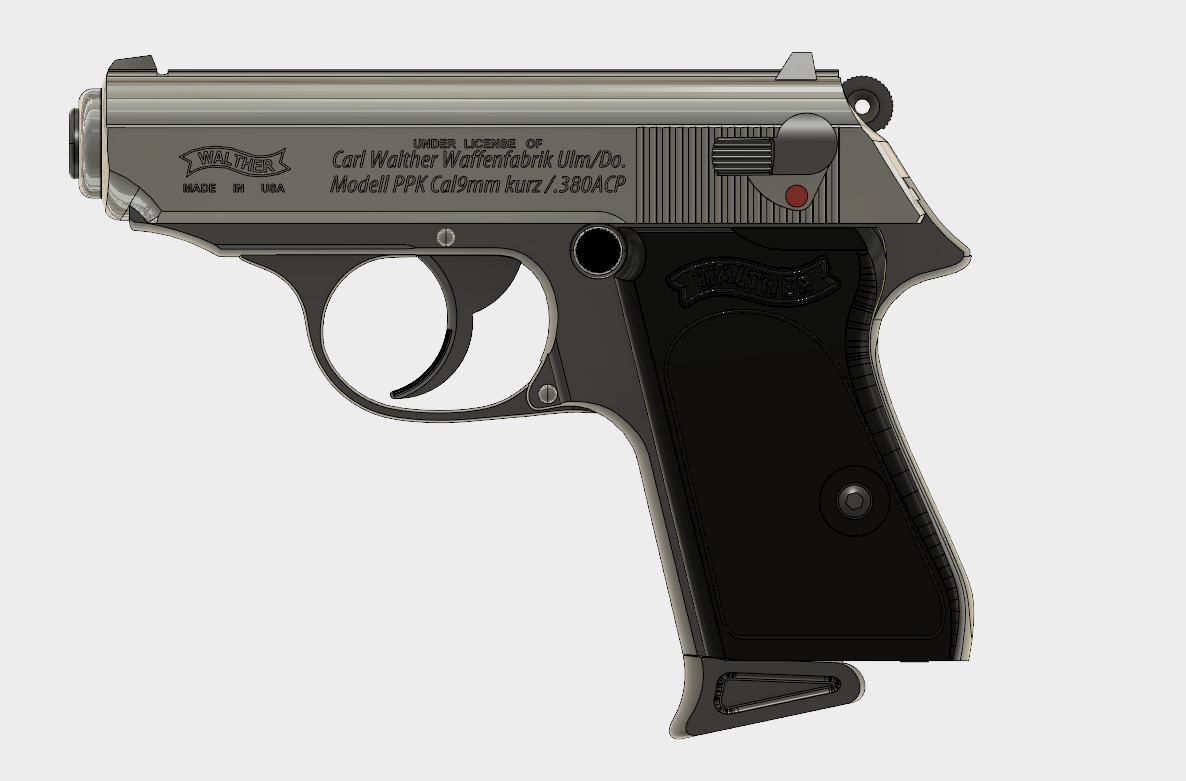 Walther PPK (1).PNG Download free STL file Walther PPK Cal.9mm • Object to 3D print, 3dprintcreation