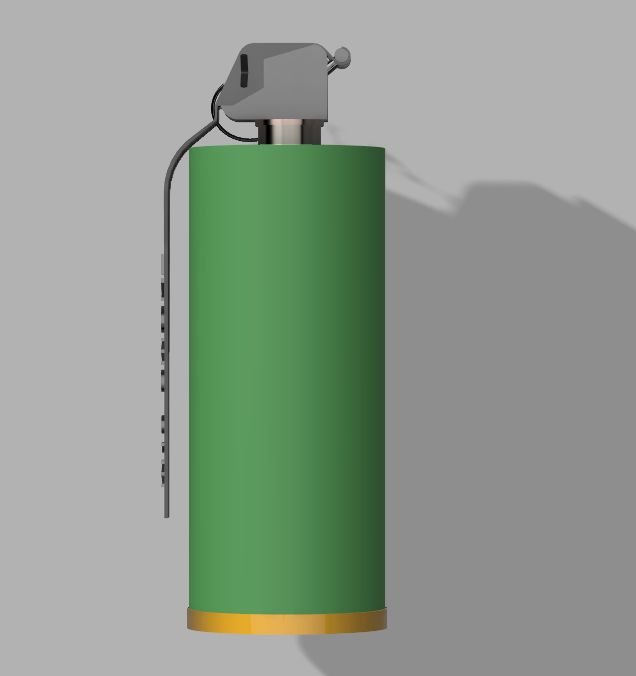 Grenade M18 (2).PNG Download STL file GRENADE M18 SMOKE • 3D printer template, 3dprintcreation