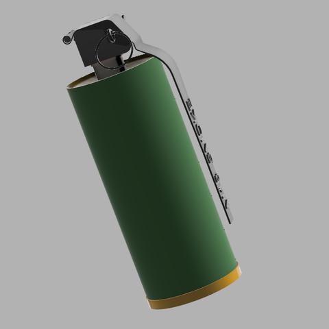 Grenade M18.PNG Download STL file GRENADE M18 SMOKE • 3D printer template, 3dprintcreation