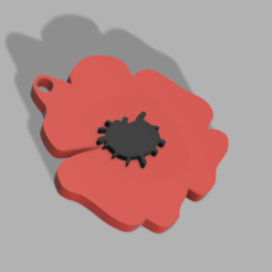 Download 3D model FRENCH POPPY KEYCHAIN, 3dprintcreation
