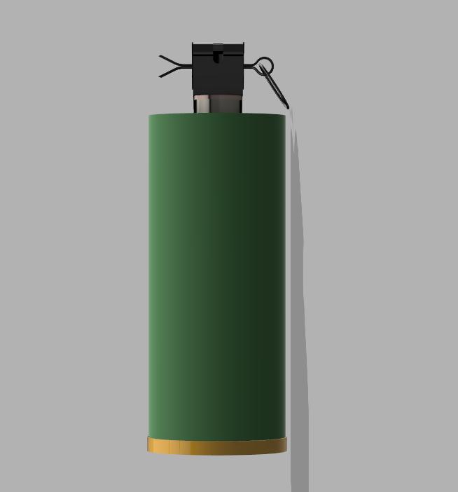 Grenade M18 (3).PNG Download STL file GRENADE M18 SMOKE • 3D printer template, 3dprintcreation