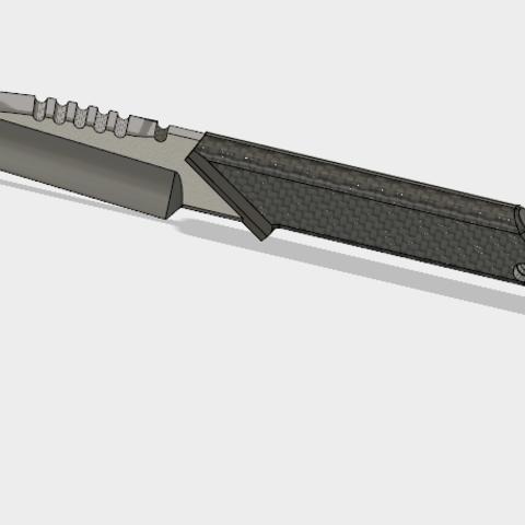 Couteau Custom(4).PNG Download STL file COUTEAU CUSTOM • 3D printer model, 3dprintcreation