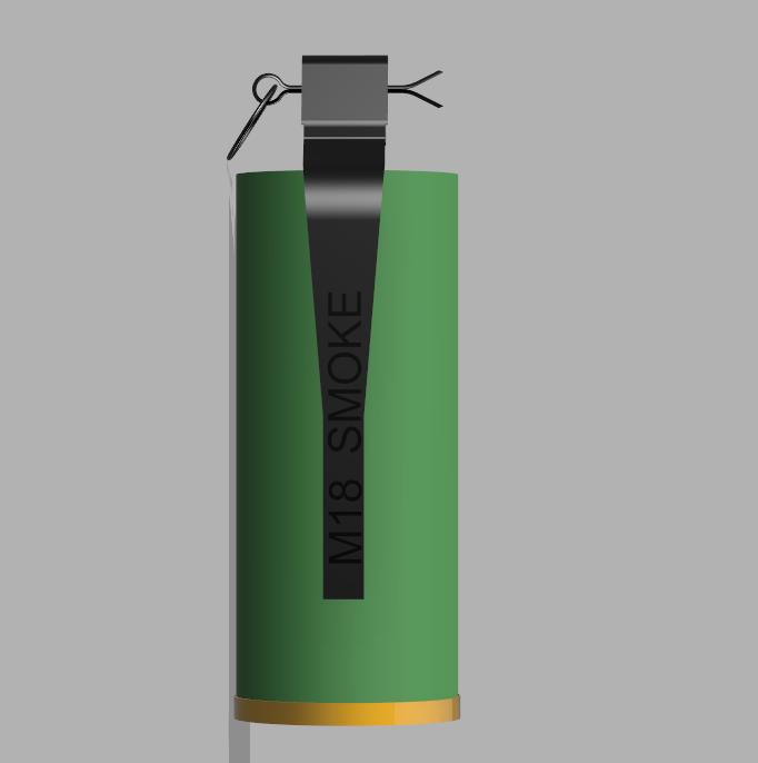 Grenade M18 (4).PNG Download STL file GRENADE M18 SMOKE • 3D printer template, 3dprintcreation