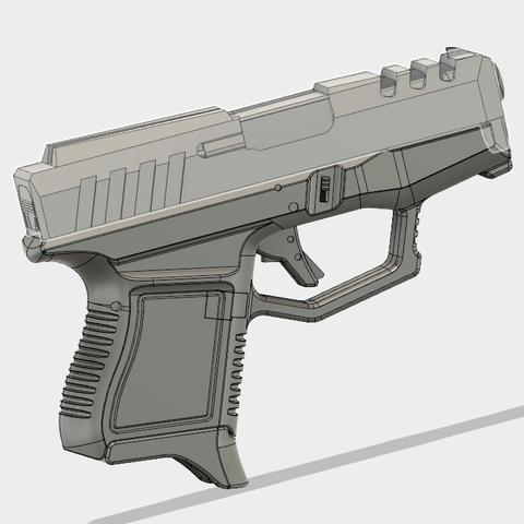 Glock 26 Gen x (7).PNG Download free STL file Glock 26 Gen x • 3D printable object, 3dprintcreation