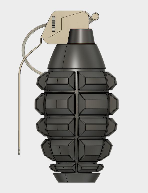 Grenade Frag (2).PNG Download free STL file GRENADE FRAG • 3D printing model, 3dprintcreation