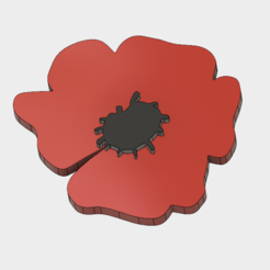 Download 3D printing templates FRENCH POPPY, 3dprintcreation