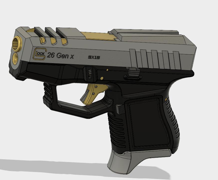 Glock 26 Gen x.PNG Download free STL file Glock 26 Gen x • 3D printable object, 3dprintcreation