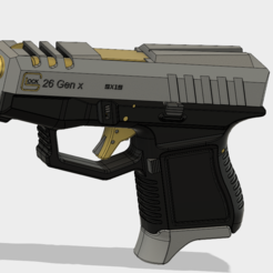 Descargar modelo 3D gratis Glock 26 Gen x, 3dprintcreation
