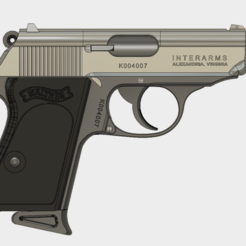 stl Walther PPK Cal.9mm gratis, 3dprintcreation