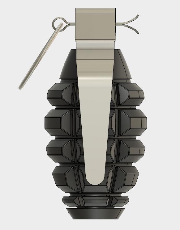 Grenade Frag (4).PNG Download free STL file GRENADE FRAG • 3D printing model, 3dprintcreation