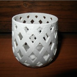 Free 3d printer files Parametric Tealight/Container, UniversalMaker