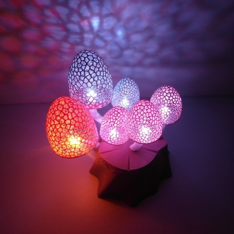 Free stl file Magic Mushrooms - a lighted decoration, UniversalMaker