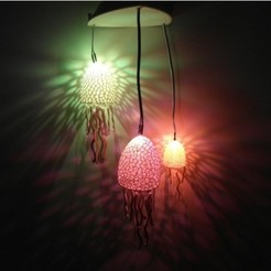 Free 3d printer files Voronoi Jellyfishes - Lighted Decoration, UniversalMaker