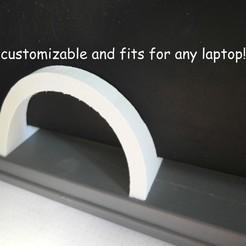 Modelos 3D para imprimir gratis Soporte para portátil elegante y acolchado, UniversalMaker