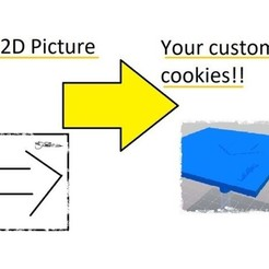 Free 3d print files Custom Picture cookie stamp, UniversalMaker
