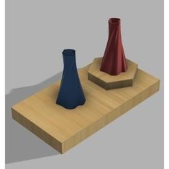 Impresiones 3D gratis Jarrón Serie p4, UniversalMaker