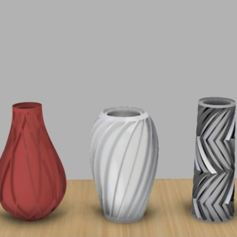 Free 3d Print Files Spiral Vase Collection Cults