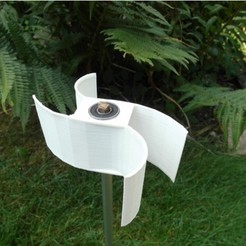 Free 3D printer designs parametric Ugrinski windturbine, UniversalMaker