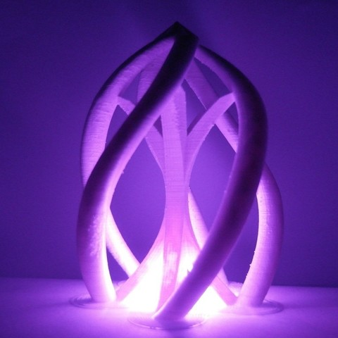 Download free 3D printer templates The swirl lightable structure, UniversalMaker