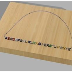 Free 3d printer files Costumizable Word necklace, UniversalMaker