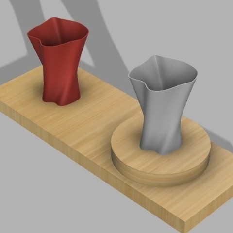 Download free 3D printer files Plant pot and coaster, UniversalMaker