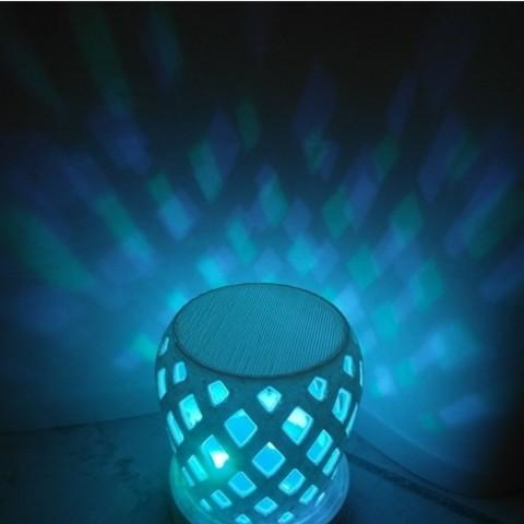 plan 3d gratuit Dessous de verre lumineux, UniversalMaker