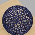 Plan 3D gratuit Voronoi blowball Flower - Décoration lumineuse, UniversalMaker