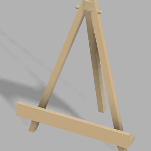 Free STL Panting Display stand(Print-in-Place), UniversalMaker