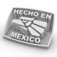 Download free STL files Hecho en Mexico, gdiseno