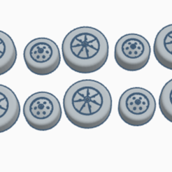 spv wheels set imai.PNG Download STL file spv wheels captain scarlet  • 3D printing design, platt980