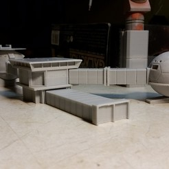 3D printing model ufo moonbase gerry anderson tv, platt980