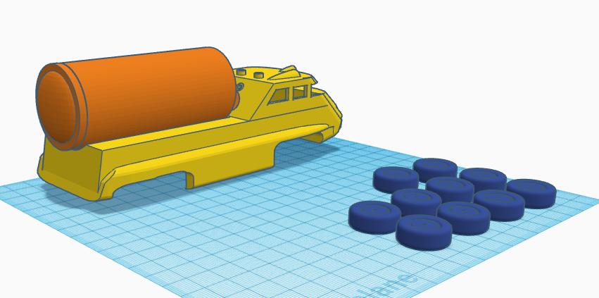 scarlet tanker2.PNG Download STL file captain scarlet tanker thunderbirds • 3D printer model, platt980
