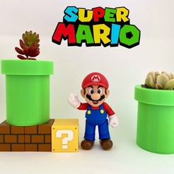 Download STL file Super Mario Bros Pipe Planter / Pen Holder, Ivankahl3D