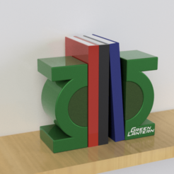 Download 3D model GREEN LANTERN BOOK HOLDER 3 COLOR, Ivankahl3D