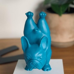 a3b46772-cff2-4deb-99f7-423b906a0cac.JPG Download STL file FRENCH BULLDOG YOGA POSE 1 • 3D printer template, Ivankahl3D