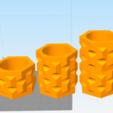 Download free 3D printer templates JEWELS PLANTER 3 SIZES, Ivankahl3D